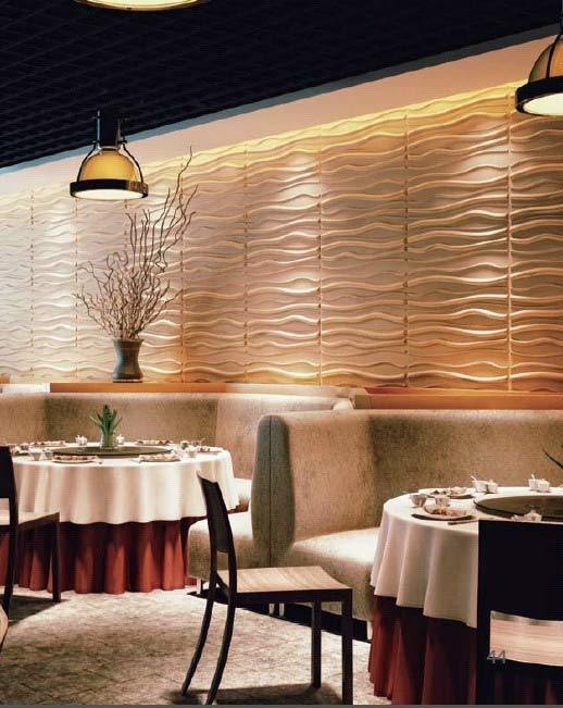 China Acoustic 3d Panel For Hotel Restaurants Wall