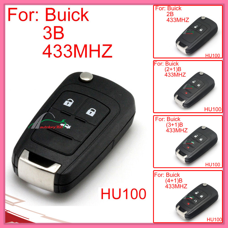 Remote Key for Auto Buick with 2 Buttons 433MHz