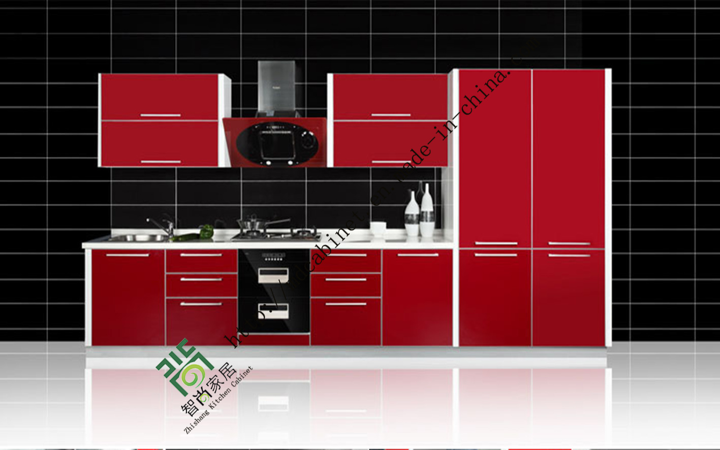 China 2015 new model kitchen cabinet with uv mdf doors zs for Latest model kitchen designs