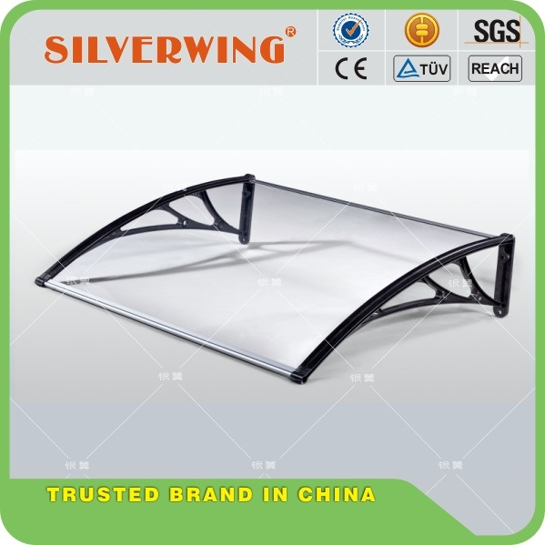 Easy to DIY Polycarbonate PC Awning for Door Window/Cheap Price Cover/ House Canopy UV Protection