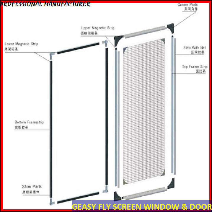 China magnetic insect screen for window china magnetic for Window insect screen