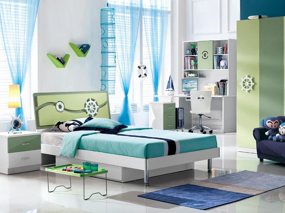 China kids bedroom furniture mzl 8080 china kids bed for Children bedroom furniture