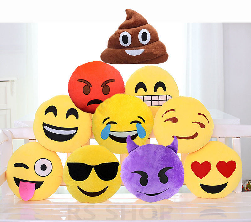 2016 New Product PP Cotton Poop Shaped Plush Emoji Pillow
