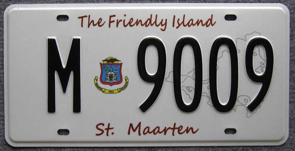 Aluminum License Plate Curacao (JS00130)