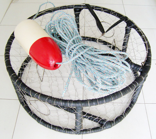 China crab pots fishing tackles crab traps wtg a0011 for Fishing pole crab trap