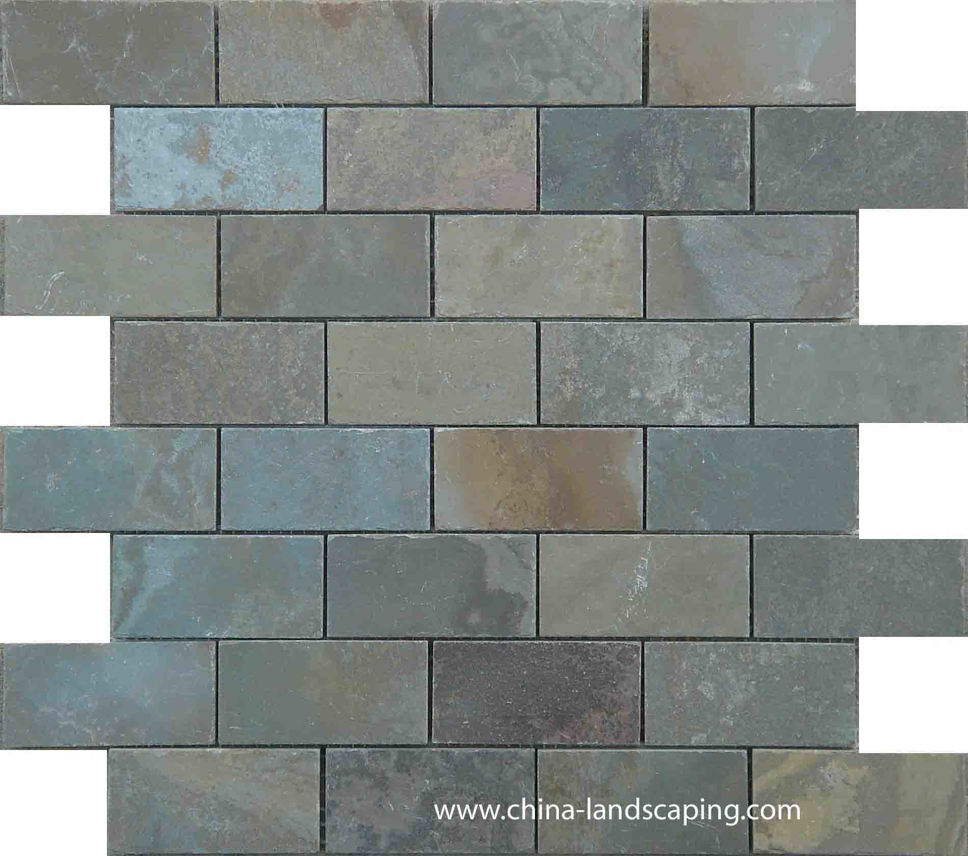Natural Slate Tile : China natural slate mosaic tile mph