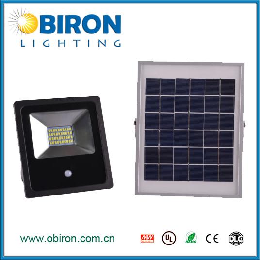 10W Solar LED Floodlight with Motion Sensor