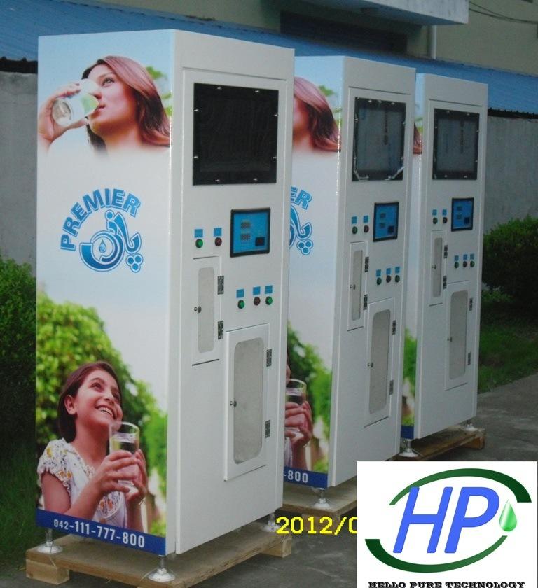 Water Vending Machine 1500GPD Coin in