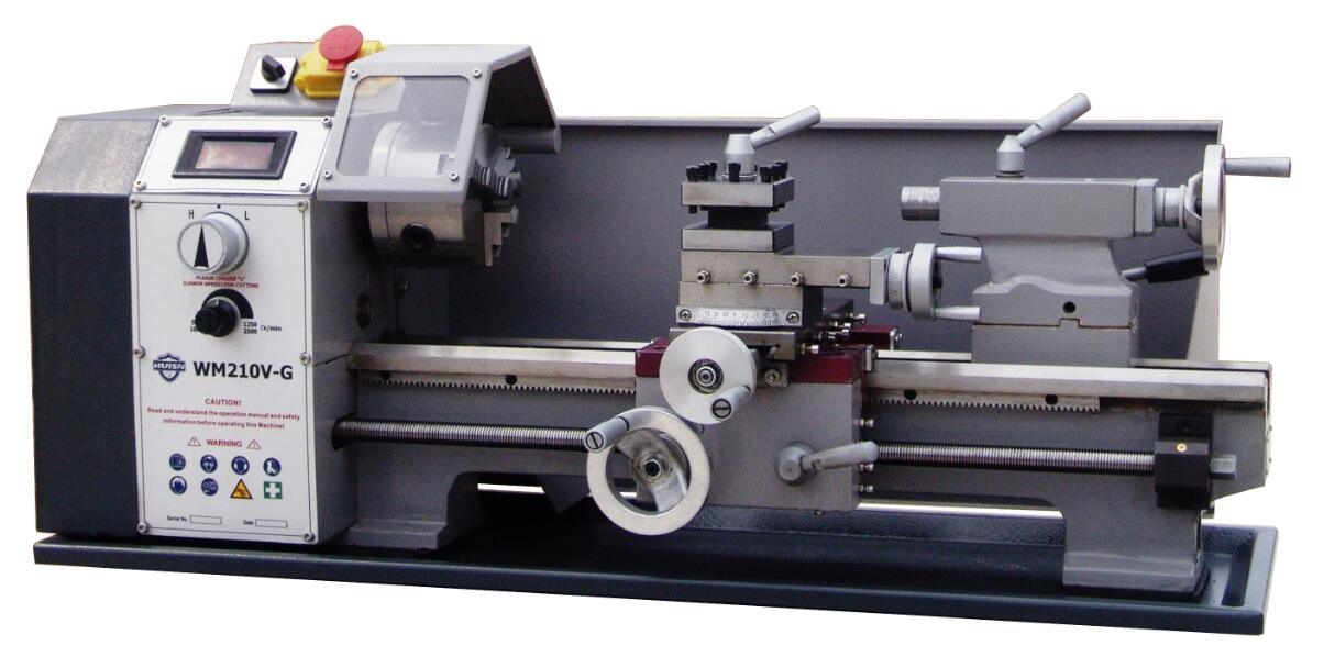 Hot! ! ! Machine Tool 21mm Spindle Bore China Mini Metal Lathe (Wm210V-G)