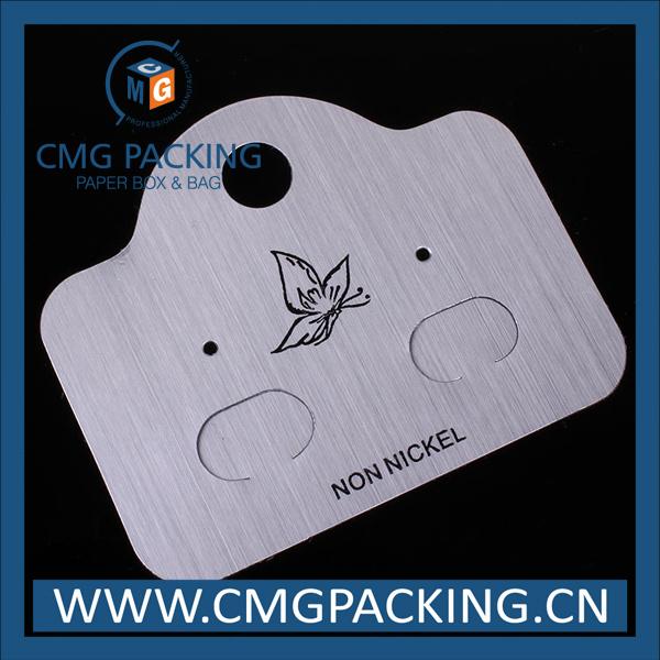 Plastic Cardboard Earring Display for Jewelry Display