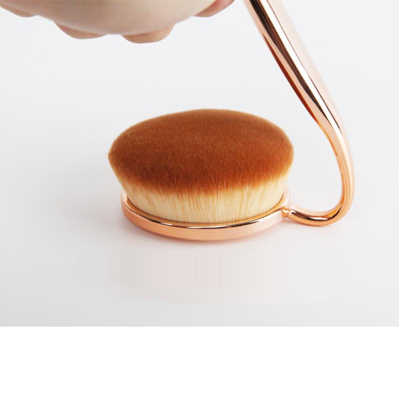 2016 New 10 Pieces Rose Golden Toothbrush Shape Makeup Brush