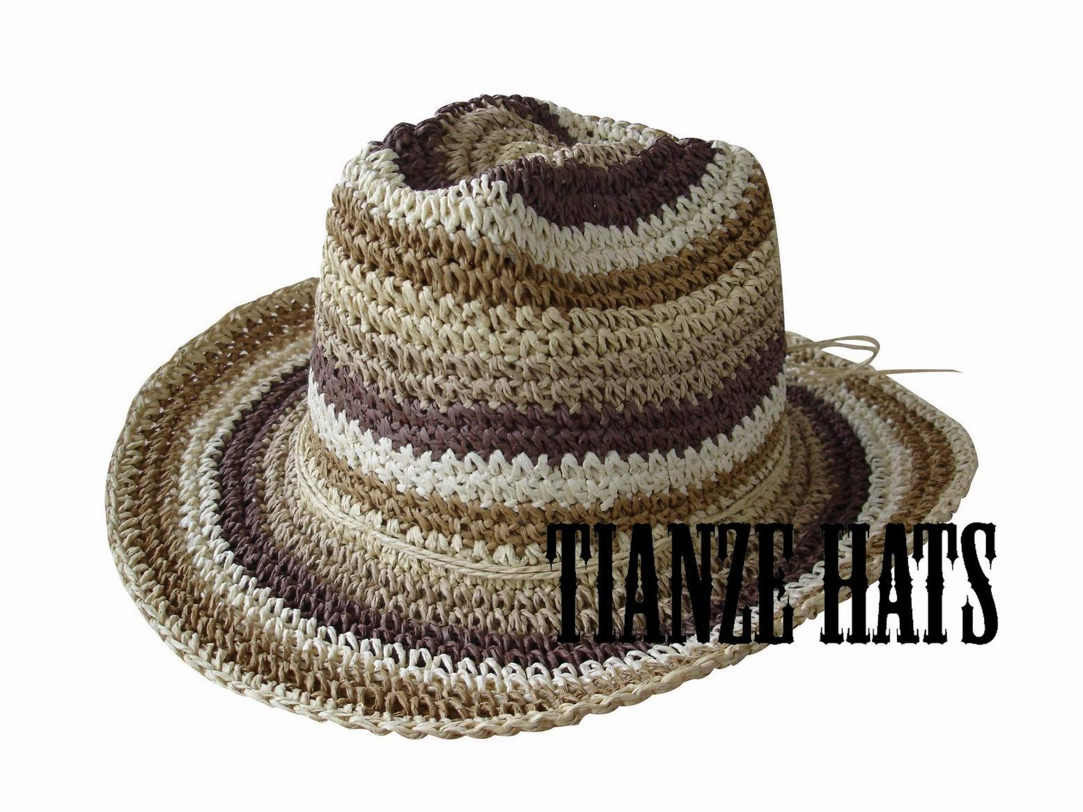 Crochet Paper Bucket Hat