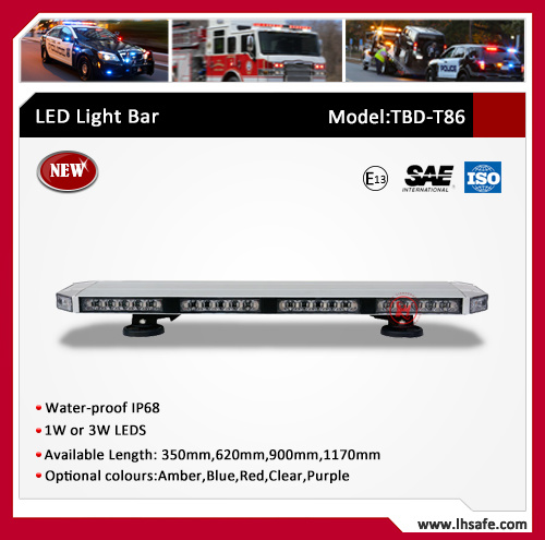 Ultrathin Aluminum LED Emergency Warning Light Bar (TBD-T86)