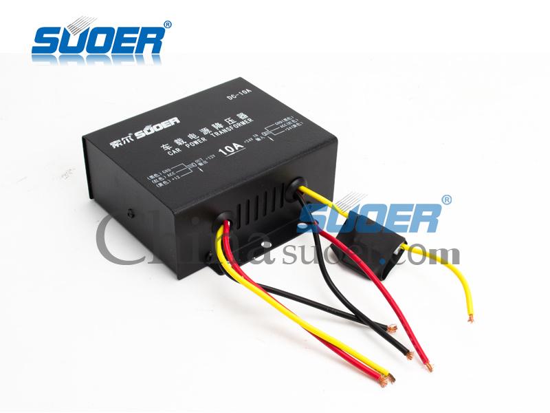 Suoer Power Converter DC 24V to 12V Car Power Converter 10A Electronic Converter (DC-10A)