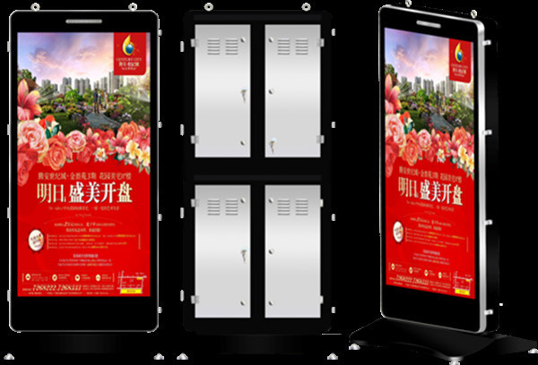 85 Inch P5 Outdoor Full Color LED Ad Player in Hotel Road