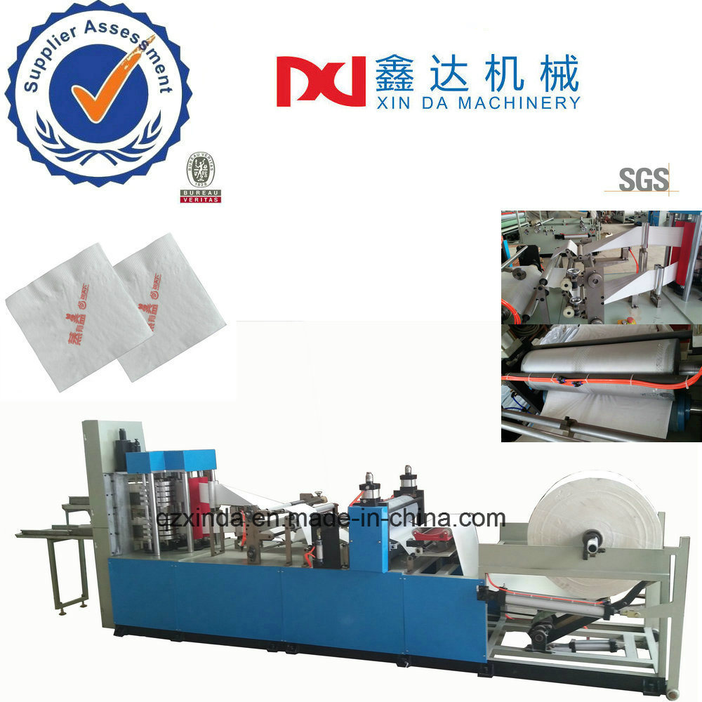 Full Auto Color Printing Embossed Serviette Tissue Folder Napkin Paper Machine Manufacturer
