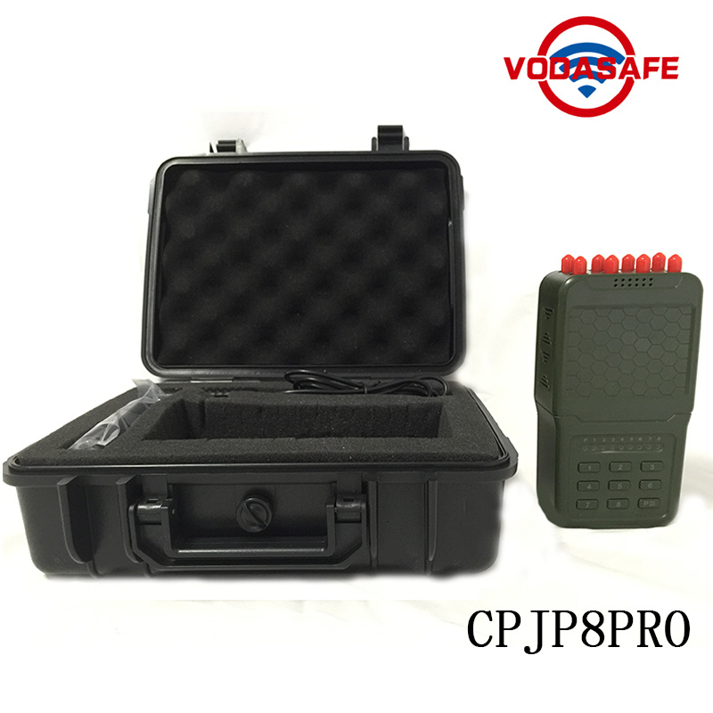 signal jammer San Francisco County CA , China High Output Power  Handheld 8 Antennas Cell Phone Jammer, Professional High Quality Signal Jammer with Battery - China Portable Eight Antenna for All Cellular GPS Loj, Lojack/WiFi/4G/GPS/VHF/UHF Jammer