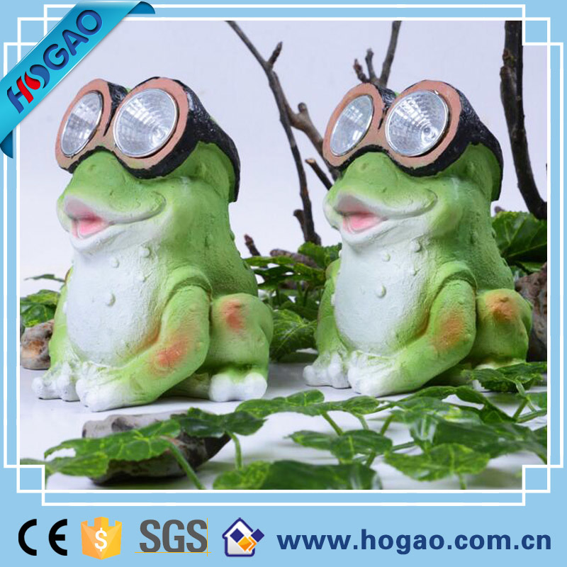 Resin Outdoor Frog Solar Light for Garden (HG066)
