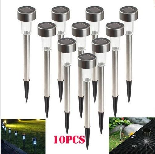 Outdoor Stainless Steel LED Solar Light Landscape Path LED Solar Light Outdoor Yard Lamp LED Solar Lamp Garden Light