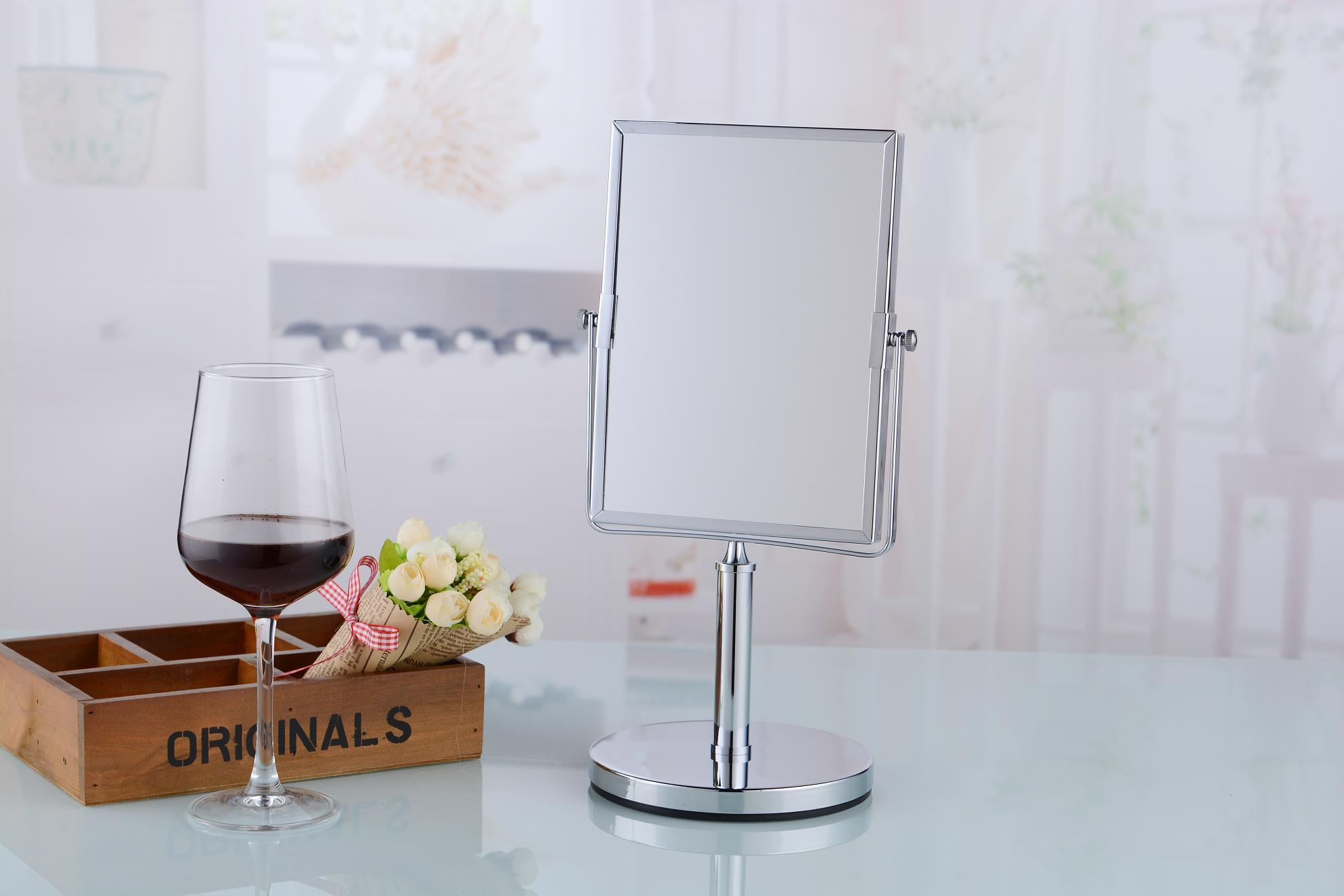 China Free Standing Table Top Vanity Cosmetic Square Mirror   China Vanity  Mirror, Table Mirrors