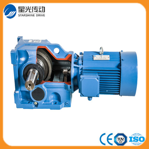 Guangdong Foshan 5HP Helical Bevel Geared Motor