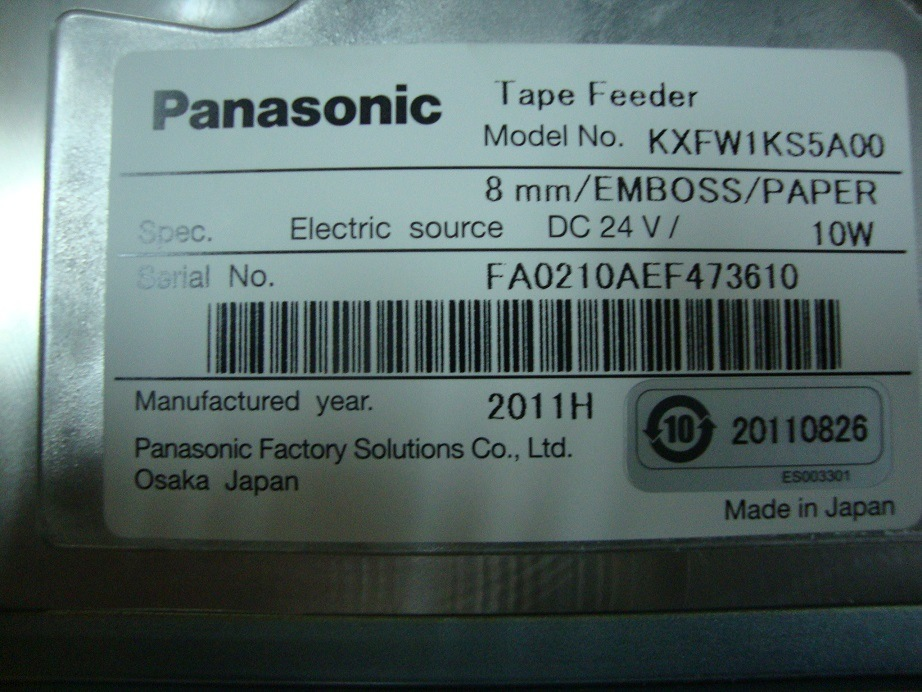 Panasonic Cm402 Cm602 8mm Feeder Kxfw1ks5a00 with Sensor
