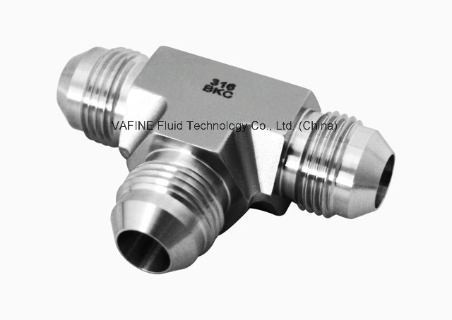 Stainless Steel Jic 37 Degree Tee Flare Tube Fittings