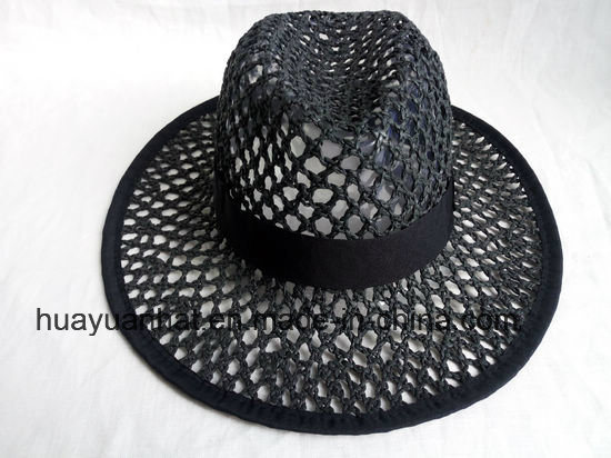 Crocheted Paper Straw Leisure Style Safari Hats