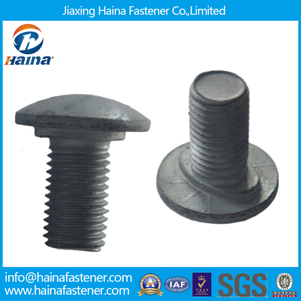 Hot DIP Galvanized Highway Guardrail Bolts, Carbon Steel 4.8/8.8 Grade Guardrail Splice Bolts