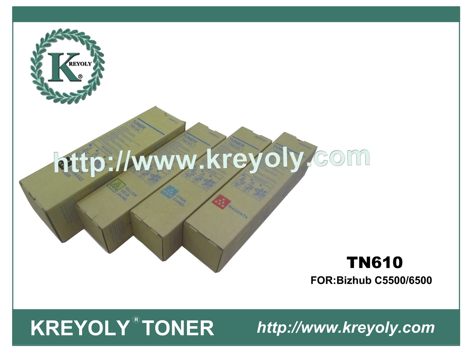 Color Toner Cartridge of Konica-Minolta for Tn-610
