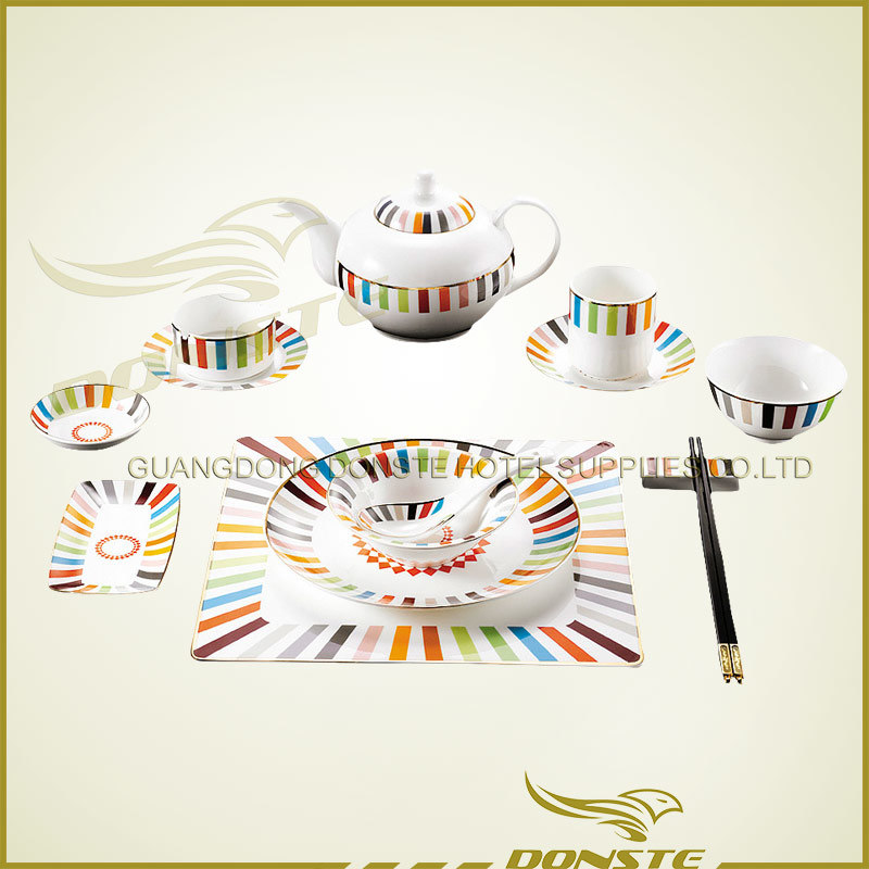 Bone China Stained Ceramic Combination Release Color Series