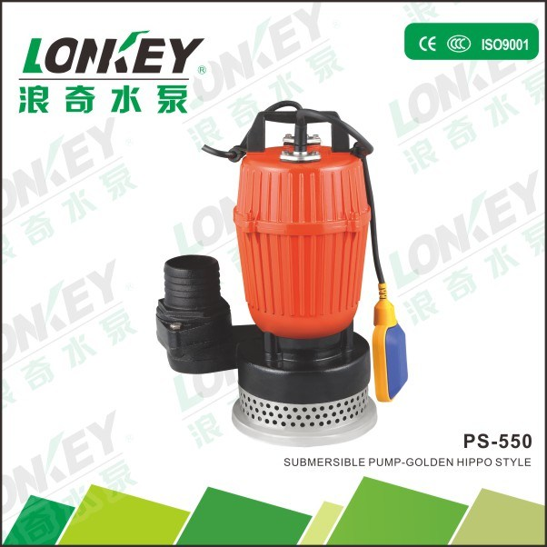 550W Electric Submersible Water Pump, Dirty Water Pump