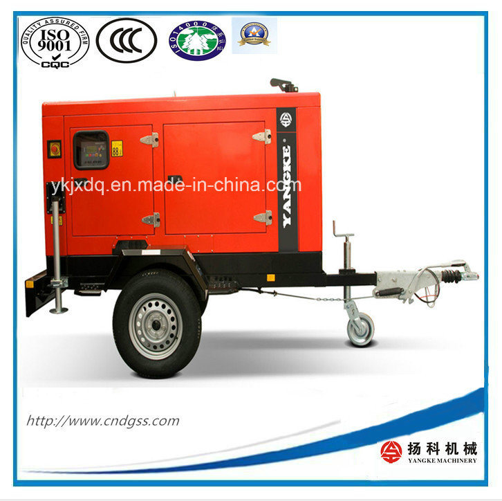 ISO Approved Yuchai 12kw/15kVA Trailer Type Silent Diesel Generator