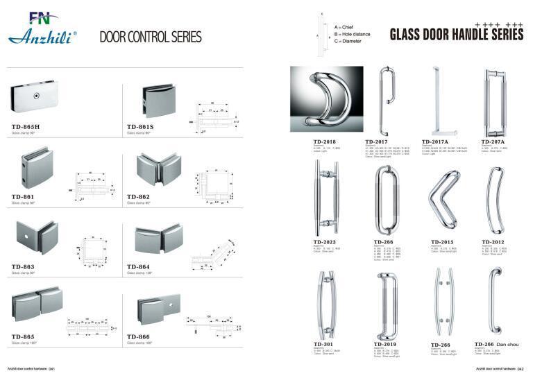 Glass Single Sliding Door Hardware B010 Use for Bathroom