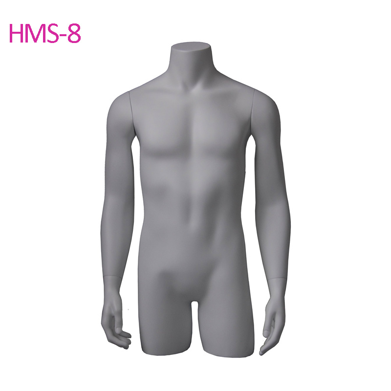 Fiberglass White Standing Muscle Male Mannequins for Fashion Shop