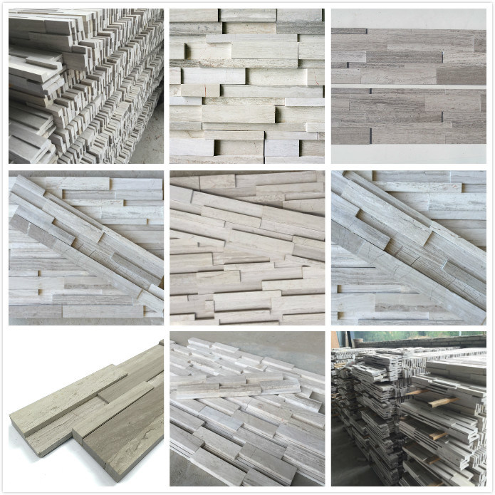 Artificial Timber Marble Cultural Stone for Interior and Exterior Wall Decoration