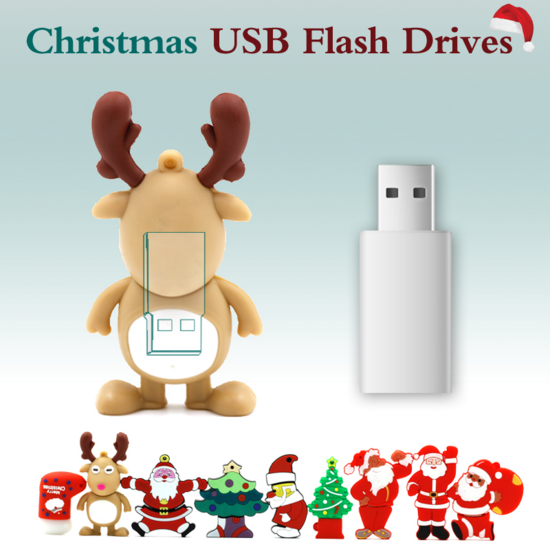 Small Style and Fashionable Christmas Gift Plastic USB Flash Drive