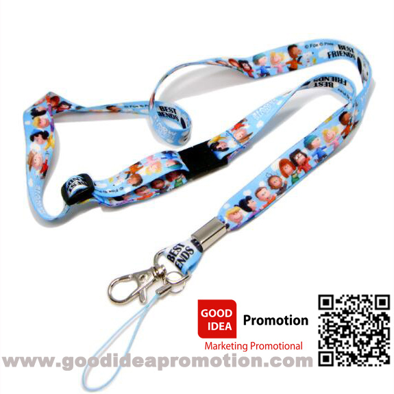 Custom Cheap Polyster Lanyard with Retractable Badge Holder Reel for ID Cards