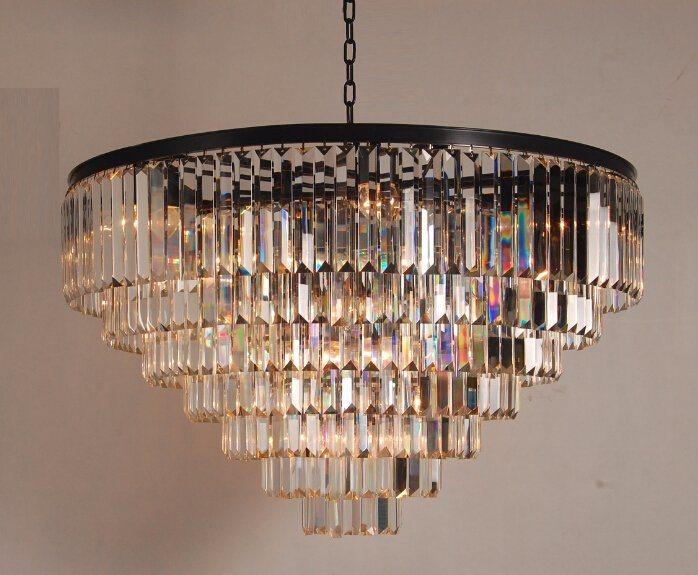 Restoration Chandelier Hanging Clear Crystal Lamp (KAD6000-22IO)