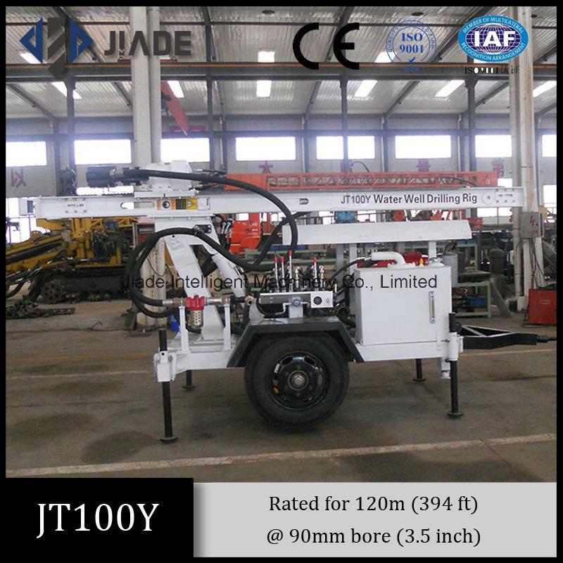 Jt100y All-Hydraulic Portable Small Drilling Rig