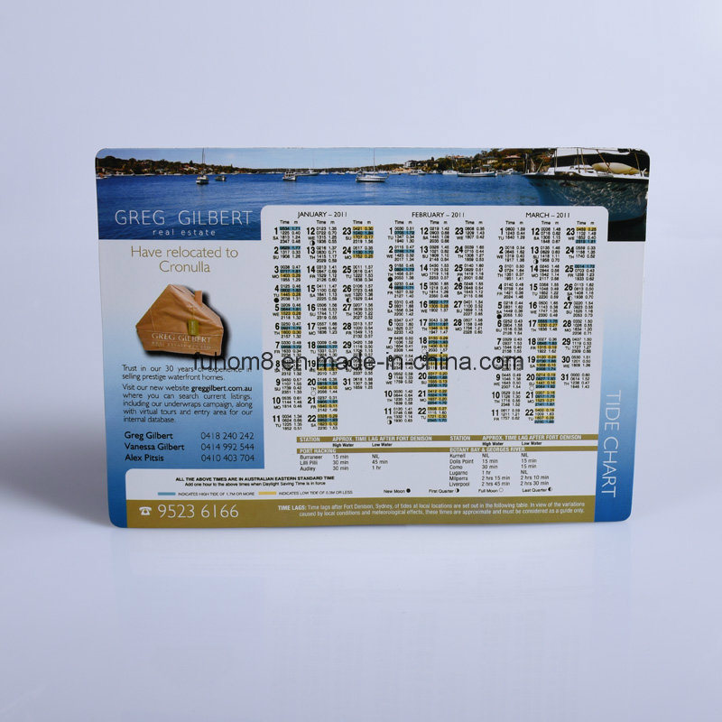 Custom Printed Magnetic Calendar Fridge Magnet for Promotion Gift