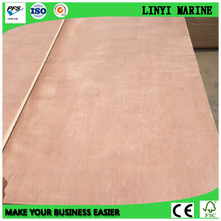 Commercial Plywood Okoume/Bintangor/Pencil Cedar Poplar Core or Hard Wood Core
