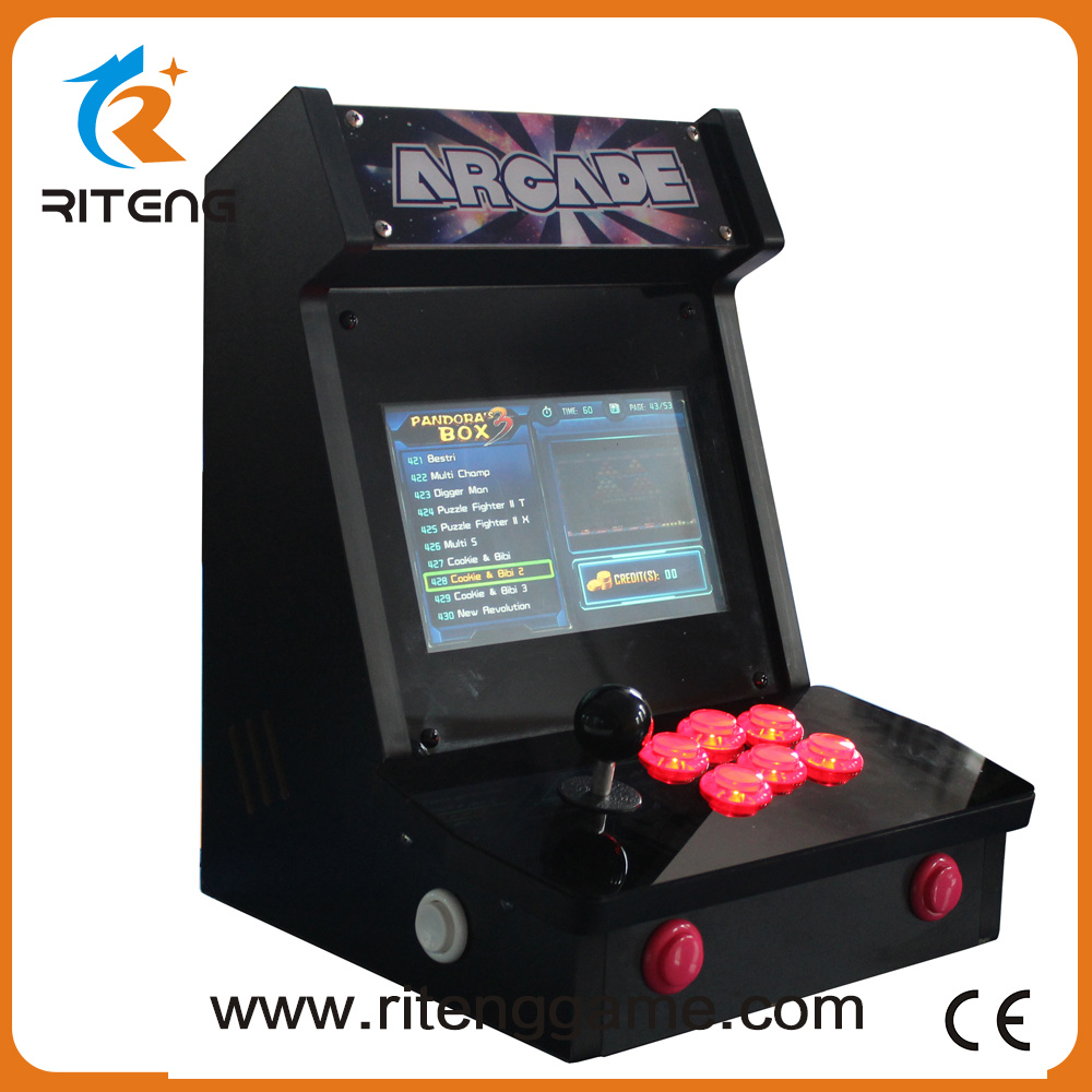 Classical Coin Pusher Arcade Machine 520 In1 Mini Bartop Arcade Game