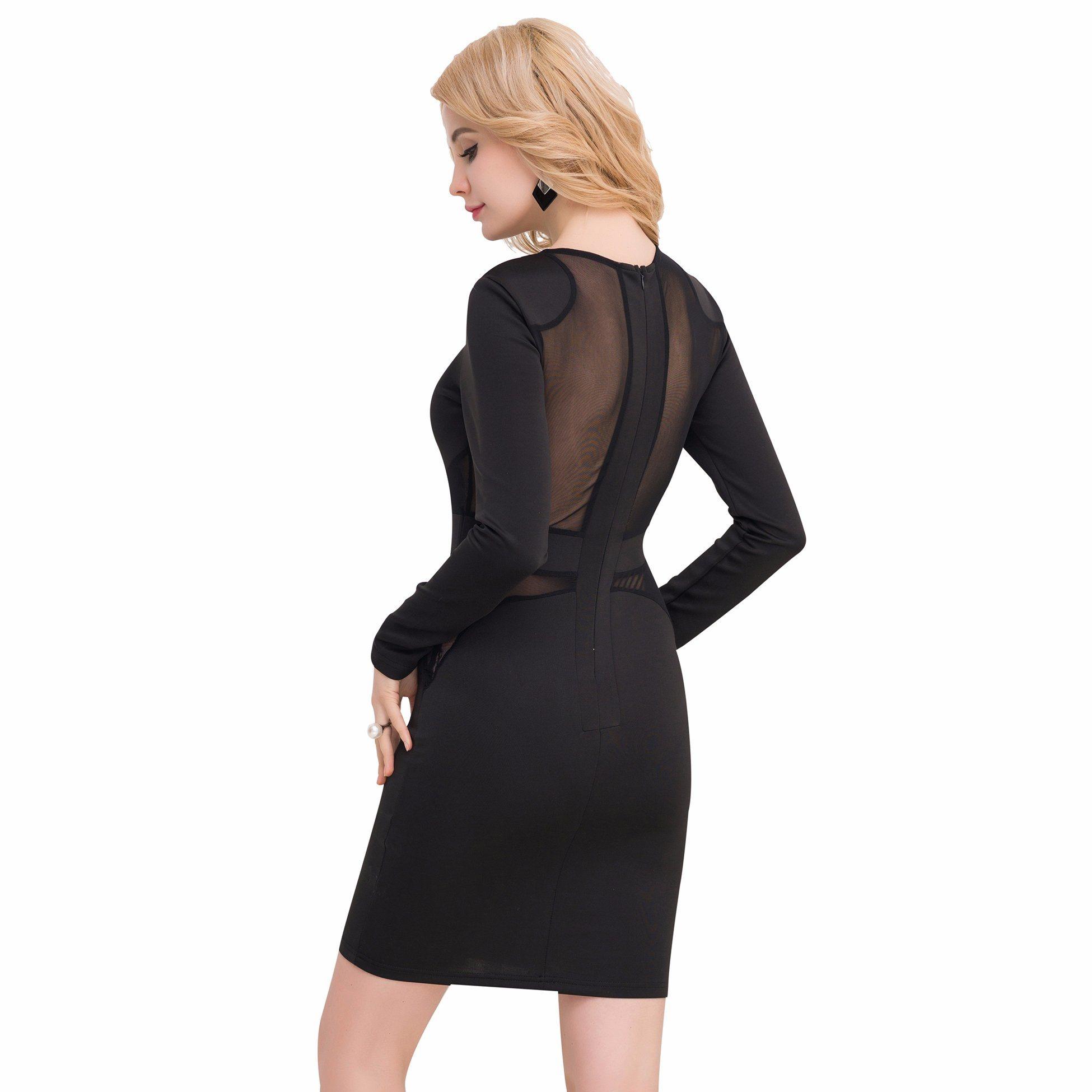 Hot Selling Elegant Black Bodcon Dress