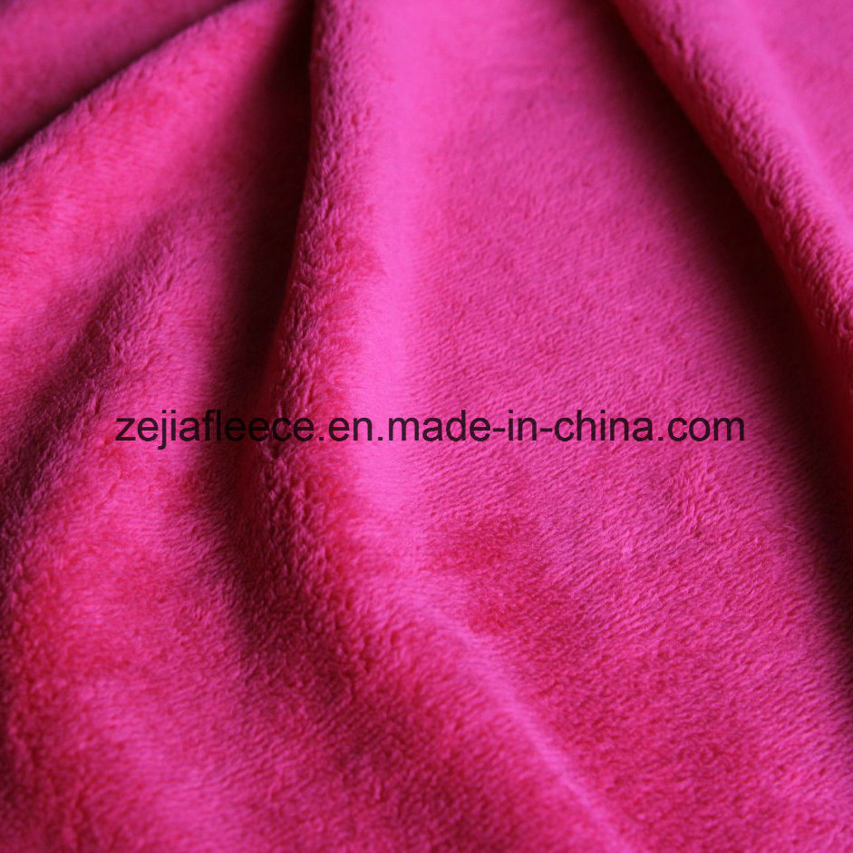 Warp Knitting Coral Fleece Fabric with Double Sides