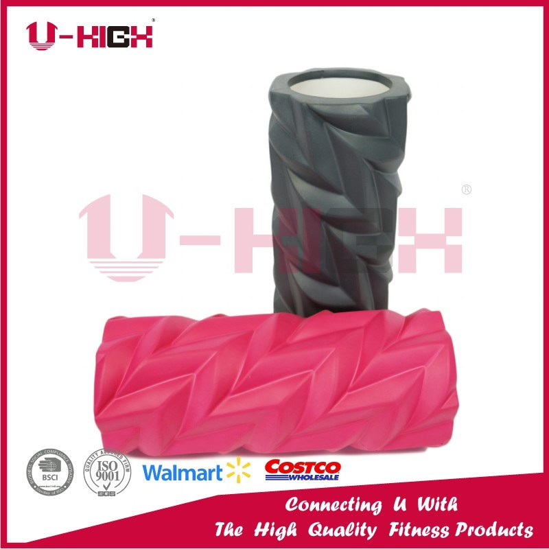 High Density Hollow Foam Roller Fitness Equipment Leaf Style