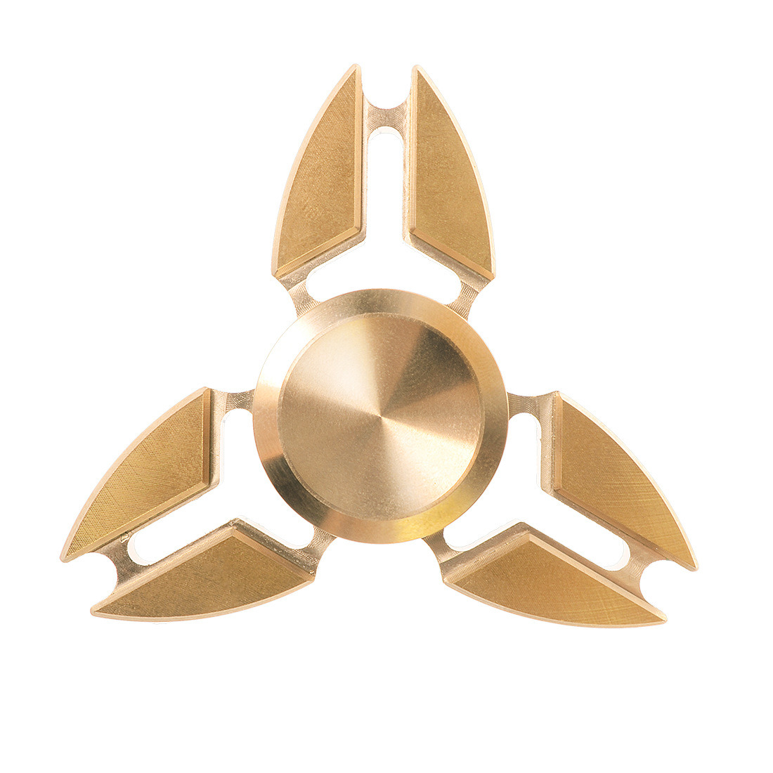Tri-Spinner Pure Brass Crab Shape Fidget Toy Fingertip Gyroscope
