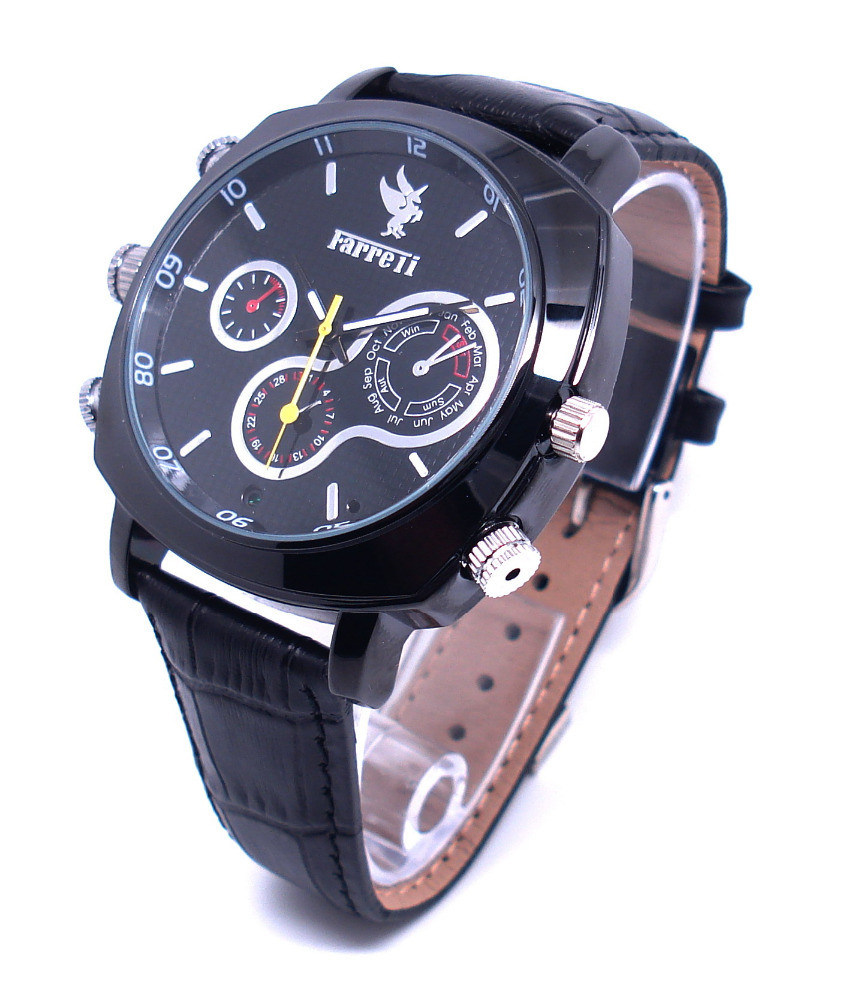 CMOS 1080P Man Watches with HD Camera Supports Voice Recording Wrist Watch DVR Cam