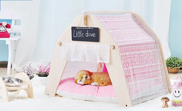 Hot Sell Comfortable New Pet Products Soft Canvas Cat Tent