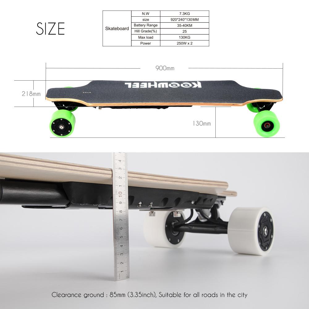 High Speed Koowheel Electric Skateboard (D3M) with Dual Hub Motors